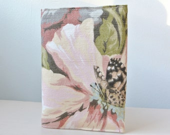 Floral passport holder, passport cover, fabric passport holder, linen passport holder,