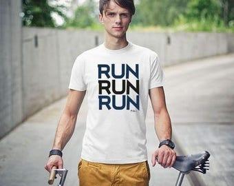 T-Shirt #run sports cotton streetwear tea