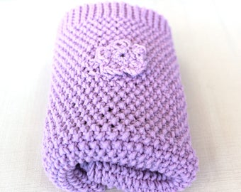 Cover purple pastel super soft merino wool, the perfect gift for a baby girl. SHIPPING:-)!