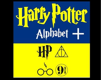 Harry Potter Font SVG Harry Potter Alphabet svg Harry Potter svg alphabet svg font svg SVG files for  Cricut Silhouette Svg Dxf Eps Png