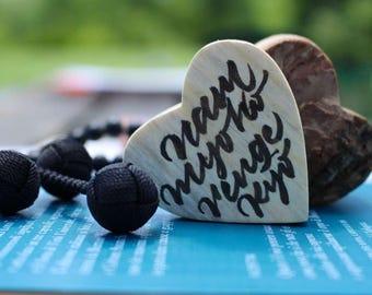 Bark Heart - Nam Myoho Renge Kyo - handwriting -for your Butsudan - Gohonzon gift