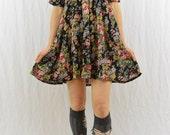 Vintage Floral Babydoll Dress, Size XS-Small, Grunge, 90's Clothing, Fairy Dress, Pastel Grunge, Tumblr Clothing, Mini Dress