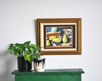 Original Abstract Pear Still Life Painting