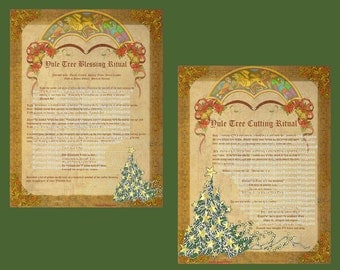 Yule TREE CUTTING & BLESSING Rituals Spells, Book of Shadows Pages,  Digital Download, Grimoire, Scrapbook, Spells, Wicca, Pagan, Witchcraft