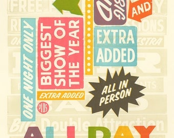 All Day Everyday Letterpress Poster