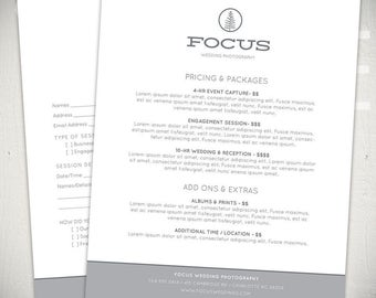 Photography Forms - 6 Essential Contracts and Order Form Templates - Focus Collection