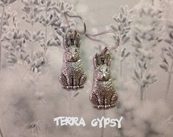 FREE SHIPPING, Bunny Earrings, rabbit earrings, easter gift, cute bunny, cute rabbit, hare earrings, easter earrings