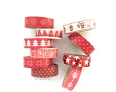 Washi Tape Set: Christmas Reds