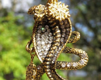 CHRISTMAS COBRA Tree Jewelry Christmas Ornament Snake Reptile