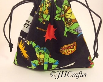 TMNT Dice Bag, DnD, Dungeons and Dragons