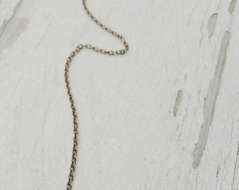 realm - golden labradorite lariat amulet necklace