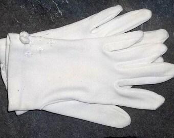 Vintage Child's White Gloves, Formal