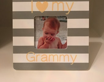 i love my grammy gigi grandma nana nonna poppi mamaw granny great grandma picture frame made to orderpersonalizedcustomizable