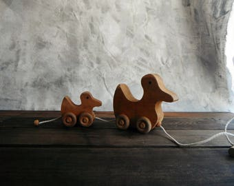 Wood Pull Toy Ducks