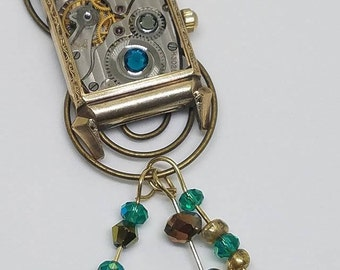 One of a kind,  steampunk pendant necklace.