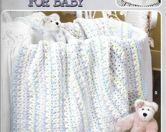 """Leisure Arts """"More Double Quick for Baby"""" Blanket Afghan Crochet  Pattern Book 9 Easy Designs"""