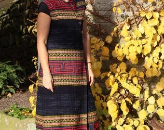Thai Hill Tribe Embroidered Mandarin Dress