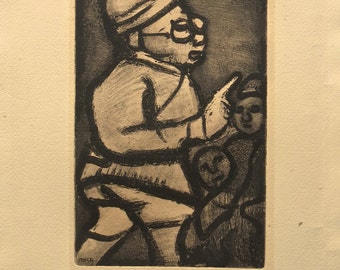 Georges Roualt (1871-1958) L'Adminstrateur 1928 Etching - Signed In Plate