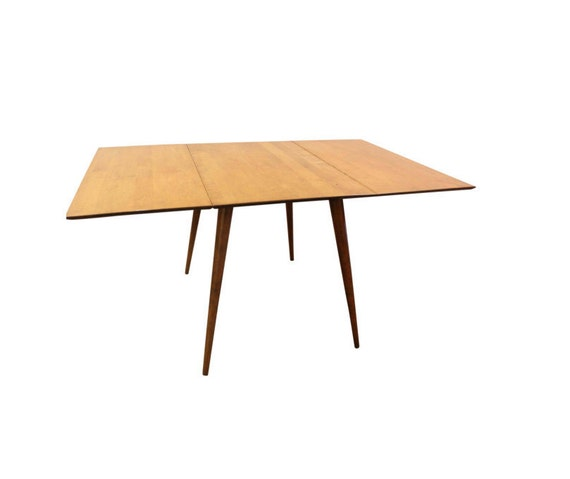 Mid Century Danish Modern Paul Mccobb Drop Leaf Dining Table