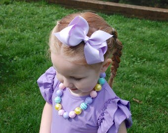 CHOOSE color,  Large Bow, Bow clips, light pink,  lavender bow,  white bow, Hair Bows, hair clips