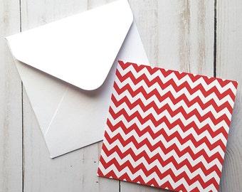 Chevron Mini Cards, Small Valentines Enclosure Cards, Valentines Cards, Valentines Gift Tags, Blank Note Cards, Gift Tag Set, Mini Envelopes