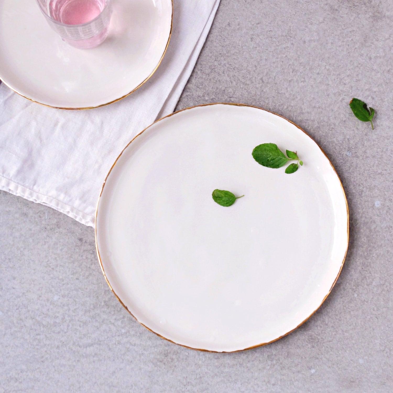 White ceramic plates for crafts - Pottery Dinner Plates White Plates Ceramic Dinner Plate Pottery Plates Porcelain Dinnerware