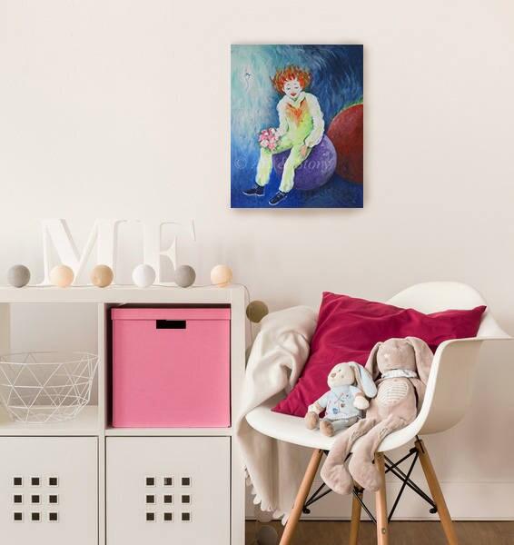 peinture pour b b fille trapeze cirque acrobatie peinture. Black Bedroom Furniture Sets. Home Design Ideas
