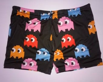 Pacman Ghost Men's Boyshorts Swim Trunks