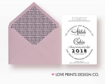 Modern Wedding  Invitation, Wedding Invitation Template Download, Belly Band, Invitation Monogram, Wedding Invite, Unique Wedding Invitation