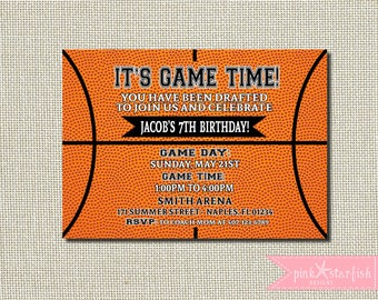 Basketball Birthday Invitation, Basketball Invitation, Basketball Party, Basketball Birthday, Basketball Printable, Sports Birthday, Digital