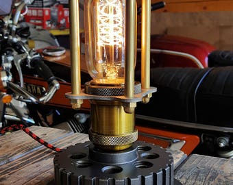 Vintage Radio Style Spiral Filament Motorcycle Lamp