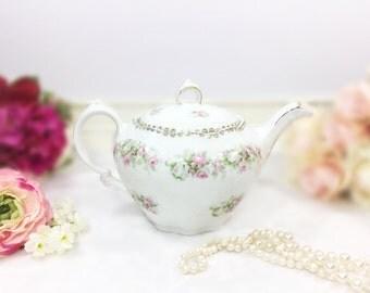 "Z.S. & C Bavaria ""Mignon"" Floral Teapot, Garden Chic German Teapot. Shabby Chic Teapot for Tea Party Wedding, Baby Shower, Tea Time #A677"