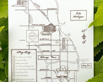Wedding Map | Custom Wedding Map | Watercolor Map | Personalized Wedding Map | Destination Wedding Map | Custom Map | Map and Itinerary