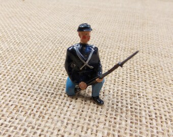 Collectible Toy Soldier, Vintage Metal Toy Soldier, Civil War Soldier, Union Infantry Soldier, Ready to Ship Under 10
