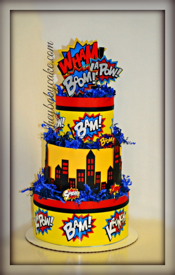 how to make a superhero diaper cake