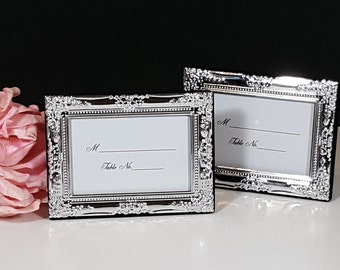 silver wedding place card frames 10 silver plated frames for place cards gift for guest ornate place card holders