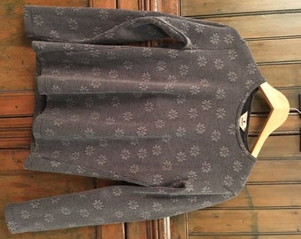 VTG Grey Woolrich Floral Thermal Top (S)