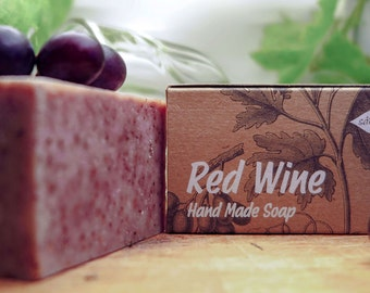 Wine soap,Red Wine Soap,organic soap,all natural soap,bar soap,unscented soap,cold process soap,vegan soap,gift for all,homemade soap