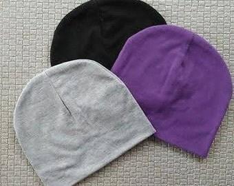 Slouchy Baby Beanie,  Beanie, Purple beanie, slouchy knit hat, slouchy baby hat, Black Beanie, Slouchy Toque, Kids Toque
