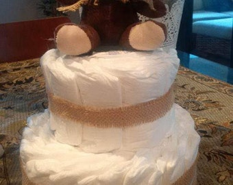 Nappy Cake - 2 tier - great gift for new baby or baby shower