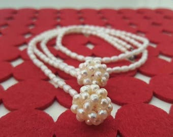 Beatrice handmade freshwater pearl lariat necklace