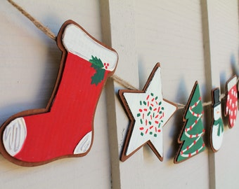 Christmas Cookie Gingerbread Banner, Holiday decor, Photography Prop