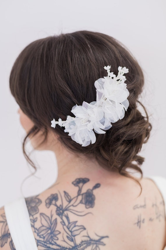 Light Ivory Flower Headpiece, Off White Flower Hair Piece, Hair Clips, Wedding Hair Accessories, Flower Headpiece, Bridal Accessories