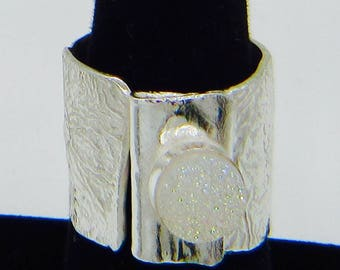 Handmade Sterling Silver Drusy Ring