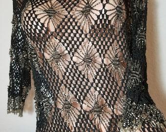FREE  SHIPPING  Crochet  Bead  Dress