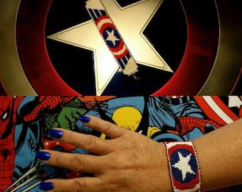 Captain American Bead Bracelet
