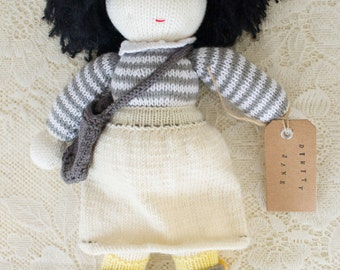Dimity Jane - hand knitted doll