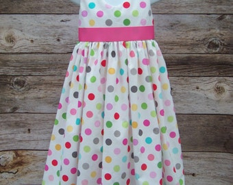 Polka Dot Dress / Flower Girl / Pageant / Wedding / Bridesmaid / Birthday / Easter / Church / Infant/ Baby/ Girl/ Toddler/ Boutique Clothing