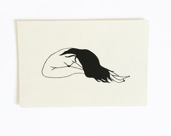 Women - Hand Drawn Postcards - Set of 4