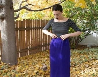 1980s/1990s Pendleton Purple Pencil Skirt; High Waist Wool Skirt